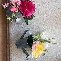 Mini Watering Can Flower DIY Decor Idea