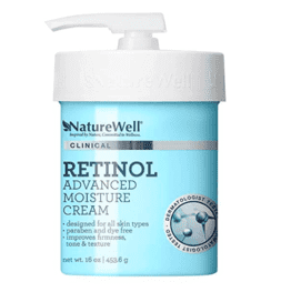 Bottle of retinol for stretch marks body lotion