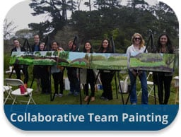 Collaborative Team Painting Team Building