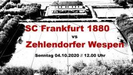 SC1880 YT – SC 1880 vs. Wespen – 04.10.2020 12:00 h