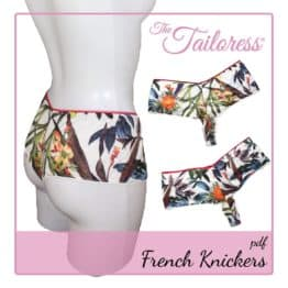 The Tailoress PDF Sewing Patterns - Jersey French Knickers PDF Sewing Pattern