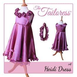 The Tailoress PDF Sewing Patterns - Heidi Rose Flower Girl Bridesmaid Dress PDF Sewing Pattern