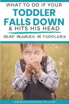 if toddler falls and hits his head