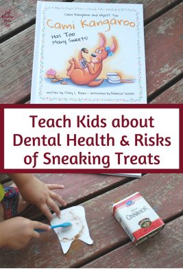 Teach Kids about Dental Health and Risks of Sneaking Treats | Fab Working Mom Life #parenting #toddlers #Preschooler Talk to children about going to the dentist | Easy activity for teaching dental health and teach kids to brush their teeth