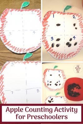Apple Counting Activity for Preschoolers   Fab Working Mom Life #preschool #backtoschool #preschoolers #apples