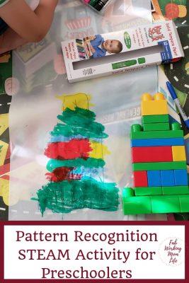 Pattern Recognition STEAM Activity for Preschoolers | Fab Working Mom Life #steam #stem #preschool #kidactivity