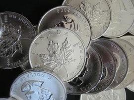 Silber, Silbermünzen (Foto: Goldreporter)