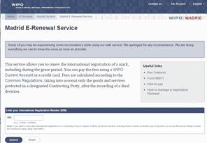 E-Renewal at WIPO Website