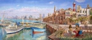 jaffa port painting