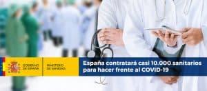 España contratará casi 10.000 sanitarios para hacer frente al COVID-19