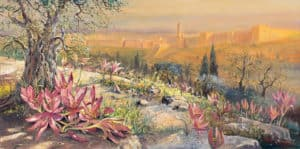Colchicum from Jerusalem, Painting by Alex Levin