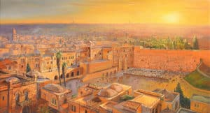 Kotel Painting jerusalem