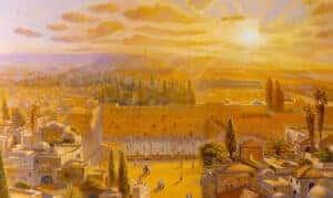 kotel jerusalem painting