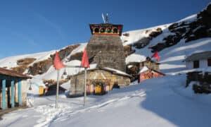 Chopta Tungnath in winters- Tungnath Temple - Altitude - 3680Mt :The Highest Temple in the world