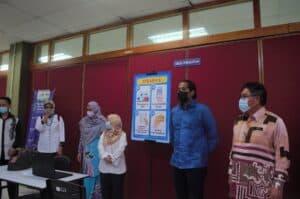 Lawatan kerja Pusat Pemberian Vaksin PPV Kompleks Masyarakat Penyayang Daerah Timur Laut Pulau Pinang 7