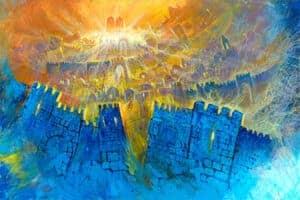 abstract jerusalem wall art
