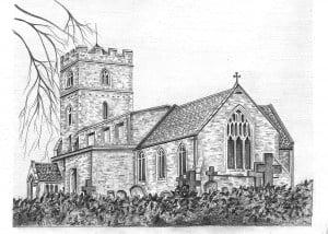 Pencil Sketch of Church