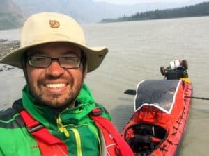 Beginn der Kanutour auf dem Yukon River