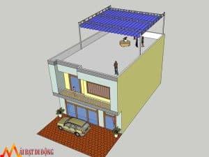 Thiết kế mái che sân thượng