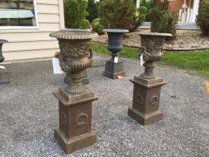 Cast Iron Garden Urns