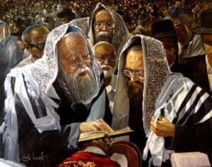Kohanim by Alex Levin, Painting by Alex Levin