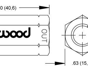 Wilwood valve 260-1876 drawing