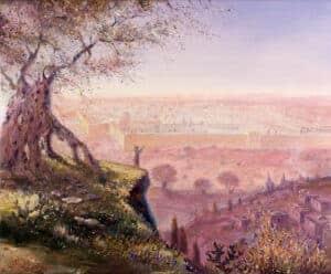 paintings of jerusalem old city