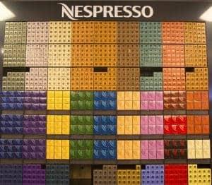 Wide selection of Nespresso Original and Vertuo Line capsules