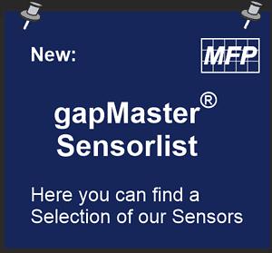 Spaltmessgerät Sensor & Tablet