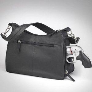 gun tote'n mamas gtm-70 black hobo concealed carry handbag