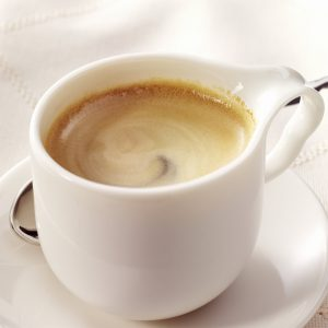 Enjoying a cup of Cuban Coffee