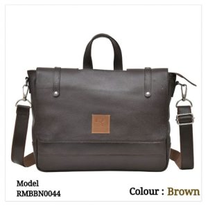 Leather Office Laptop Messenger Bag 0044 Brown