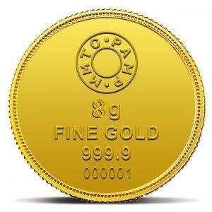 MMTC-PAMP Lotus 24k (999.9) 8 gm Gold Coin
