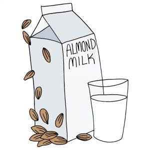freeze almond milk
