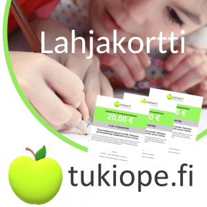 Lahjakortti verkkokauppaan tai yksityisopetukseen