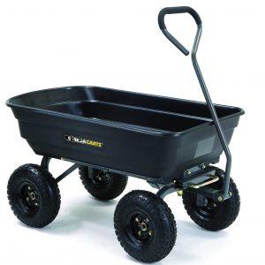 Gorilla Carts GOR4PS Dump Cart Best Wheelbarrow