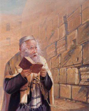 Man praying in Jerusalem