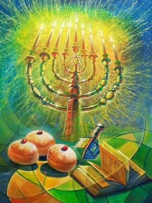 hanukkah painting