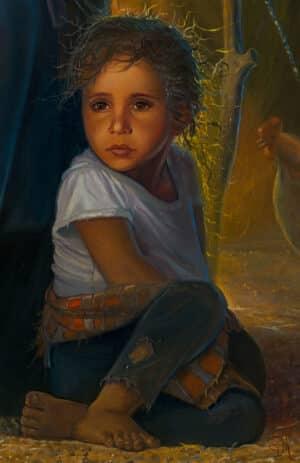 portrait of Bedouin girl