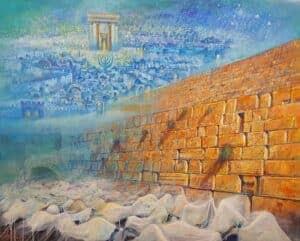 Abstract Jerusalem Paintings - Modern & Contemporary Jewish Art