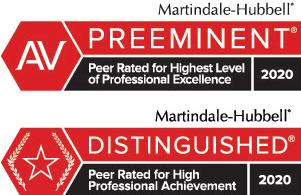 Martindale Hubbel Distinguished Professional Achievement badge