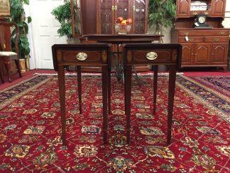 Biggs Mahogany Inlaid Pembroke Tables