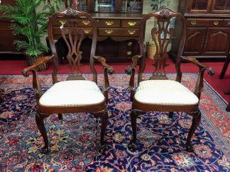 Councill Craftsman Mahogany Arm Chairs