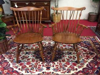 S. Bent Brothers Cherry Windsor Arm Chairs