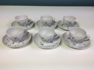 Bavarian Blue and White Cup and Saucer Set