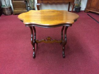 Antique Victorian Turtle Top Table