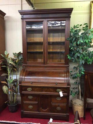antique cylinder roll top desk