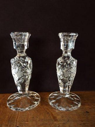 cut glass candlesticks