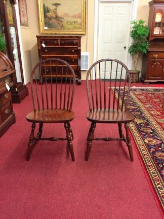 hitchcock cherry bow-back side chairs