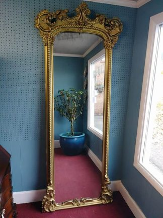 antique carved gilded mirror